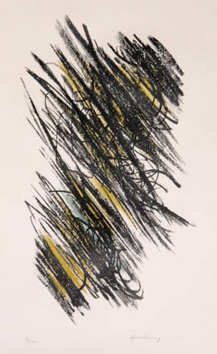 Abstract Expressionist Lithograph by Hans Hartung