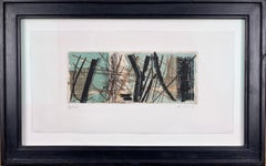 "Color Etching ""R2"" by Hans Hartung, hand signed and limited, 1953"