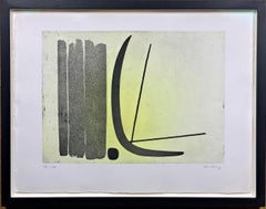 "Color Etching ""R8"" by Hans Hartung, hand signed and limited, 1953"