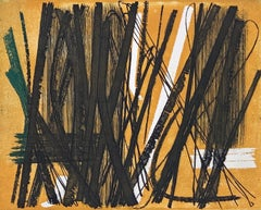 "Color Etching ""R5"" by Hans Hartung, 1953, hand signed and limited"