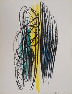 Composition with Lines - Original lithograph, Mourlot 1959