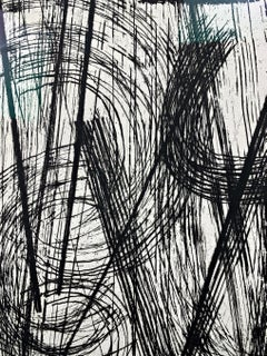 "Etching ""R15"" by Hans Hartung, 1953, with handwritten dedication"