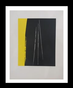 HARTUNG - original abstract lithograph- Limited editionsigned painting