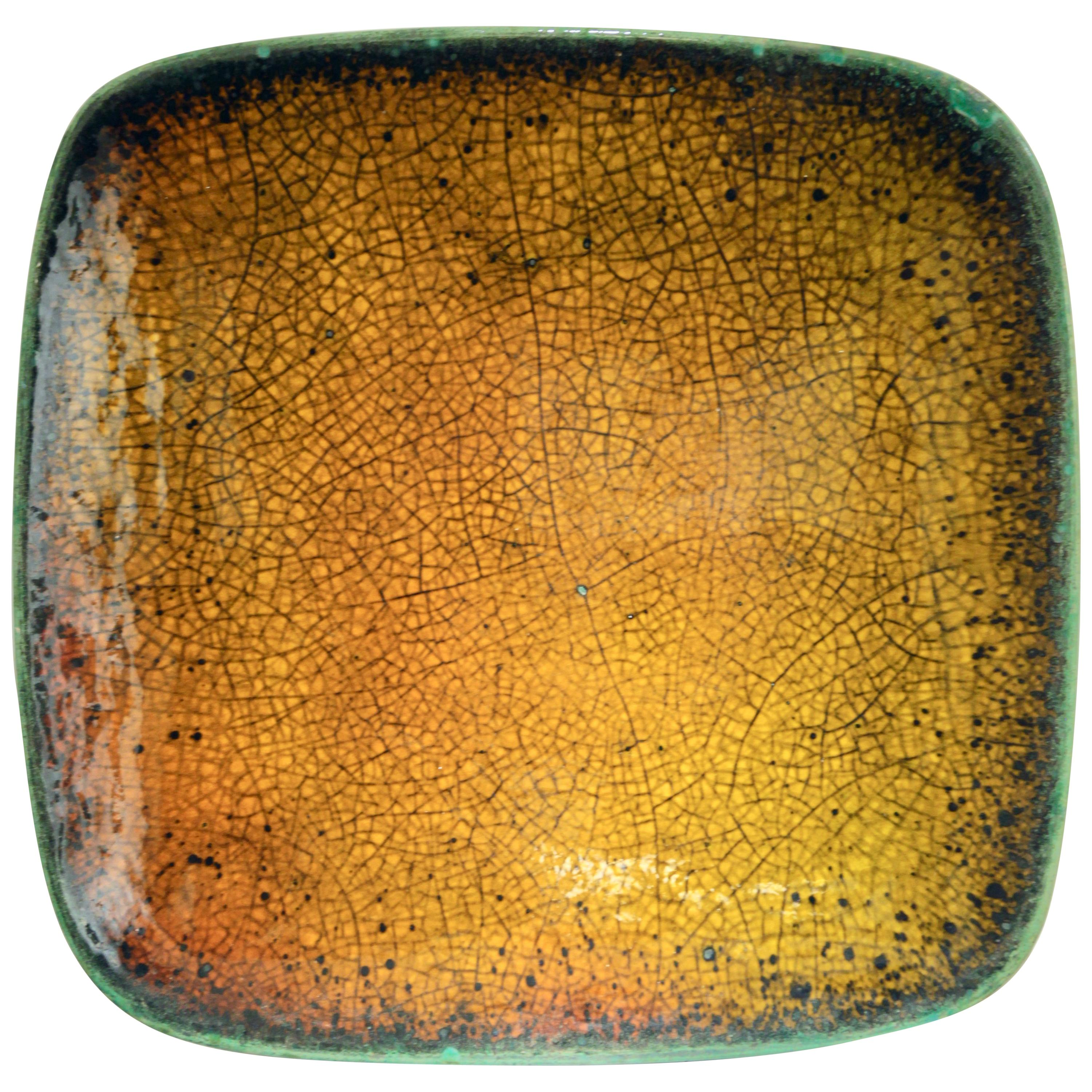 Hans Hedberg, a Large Unique Faïence Plate, Biot, France, 1960s