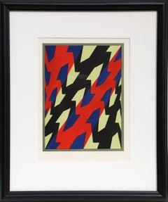 Geometric Design, Framed Silkscreen by Hinterreiter 1967