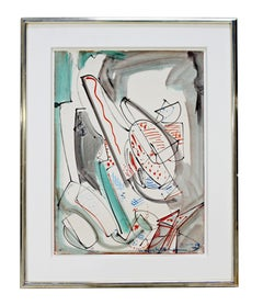 Original Oil on Paper Titled Upward Abstract Signed Hans Hofmann 1946