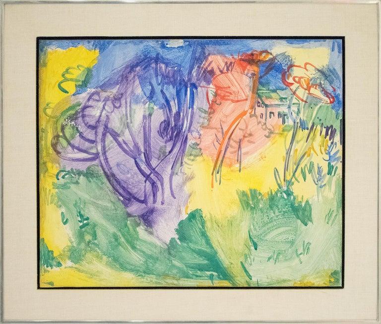 Purple Tree - Painting by Hans Hofmann