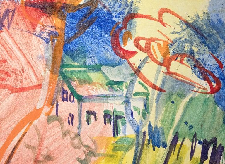 Purple Tree - Modern Painting by Hans Hofmann