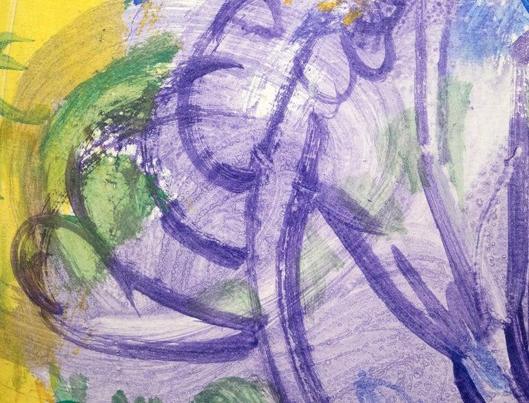 Purple Tree - Beige Abstract Painting by Hans Hofmann