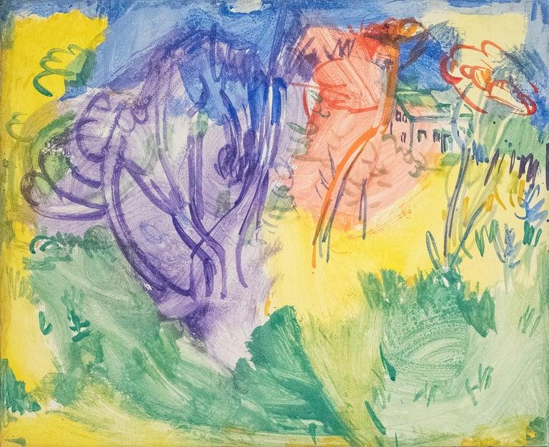 Hans Hofmann Abstract Painting - Purple Tree