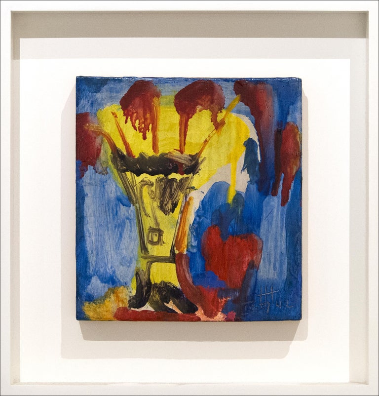Yellow Vase - Painting by Hans Hofmann