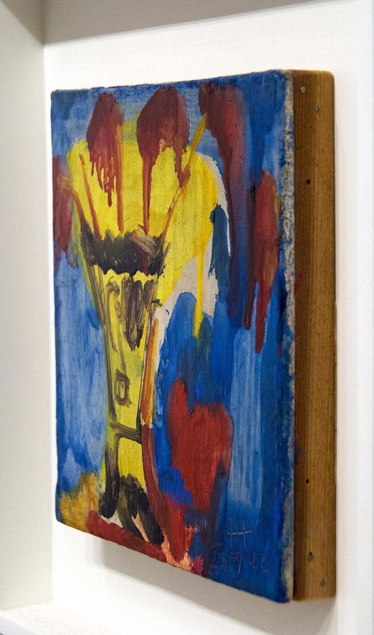 Yellow Vase - Abstract Expressionist Painting by Hans Hofmann