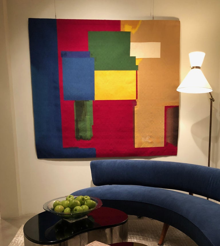 Hand-Woven Hans Hofmann Aubusson Tapestry For Sale