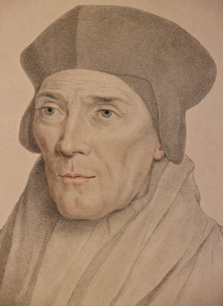 18th C. Bartolozzi Portrait of John Fisher from a 16th Century Holbein Drawing - Old Masters Print by Hans Holbein