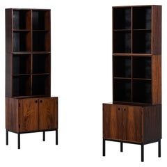 Hans Hove & Palle Petersen bookcases produced by Christian Linneberg in Denmark
