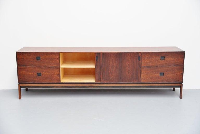 Scandinavian Modern Hans Hove & Palle Petersen Rosewood Sideboard Denmark 1960 For Sale