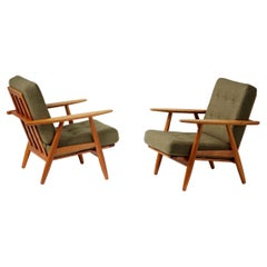 Hans J. Wegner 1950s Oak Cigar' Chairs