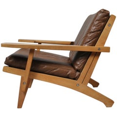 Hans J Wegner, 1960s Oak Lounge Chair, GETAMA