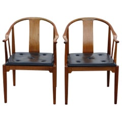 """Hans J. Wegner, a Pair of 1977 Limited Edition Walnut Armchairs """"China Chairs"""""""