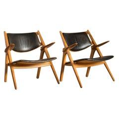 Hans J. Wegner a Pair of Armchairs for Carl Hansen