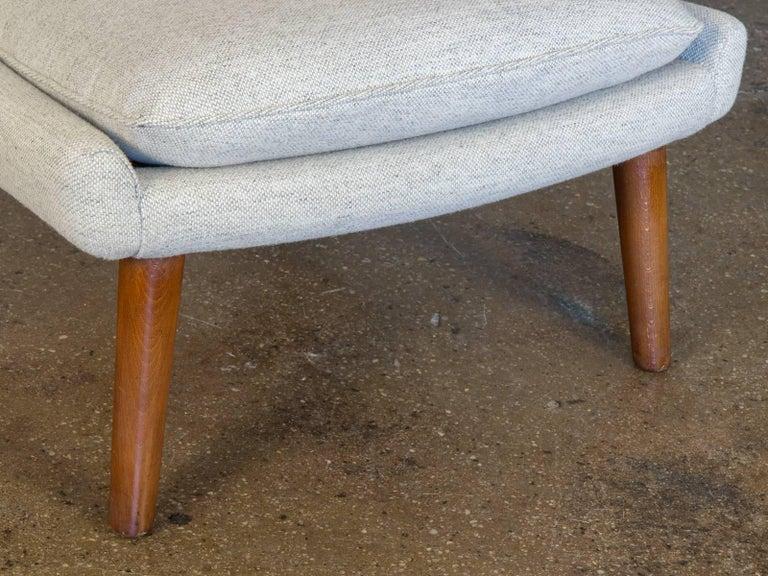 Danish Hans J. Wegner AP19 Papa Bear Chair and Ottoman For Sale