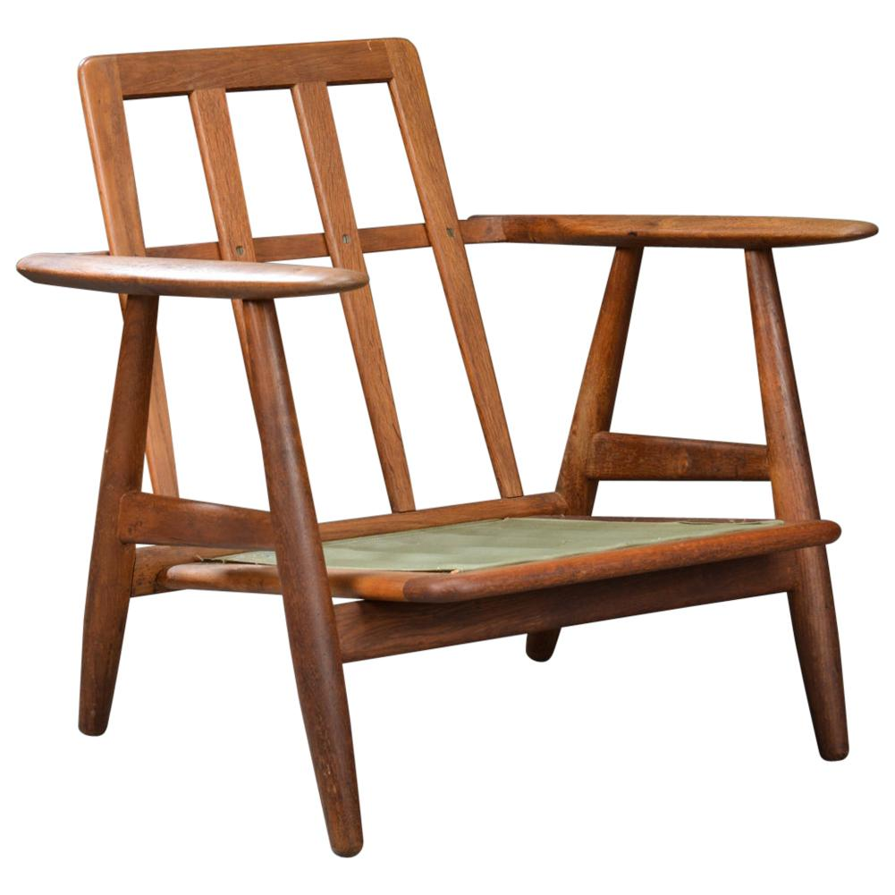 Hans J. Wegner Armchair Cigaren Model GE-240, Teak and Oak GE240 Chair
