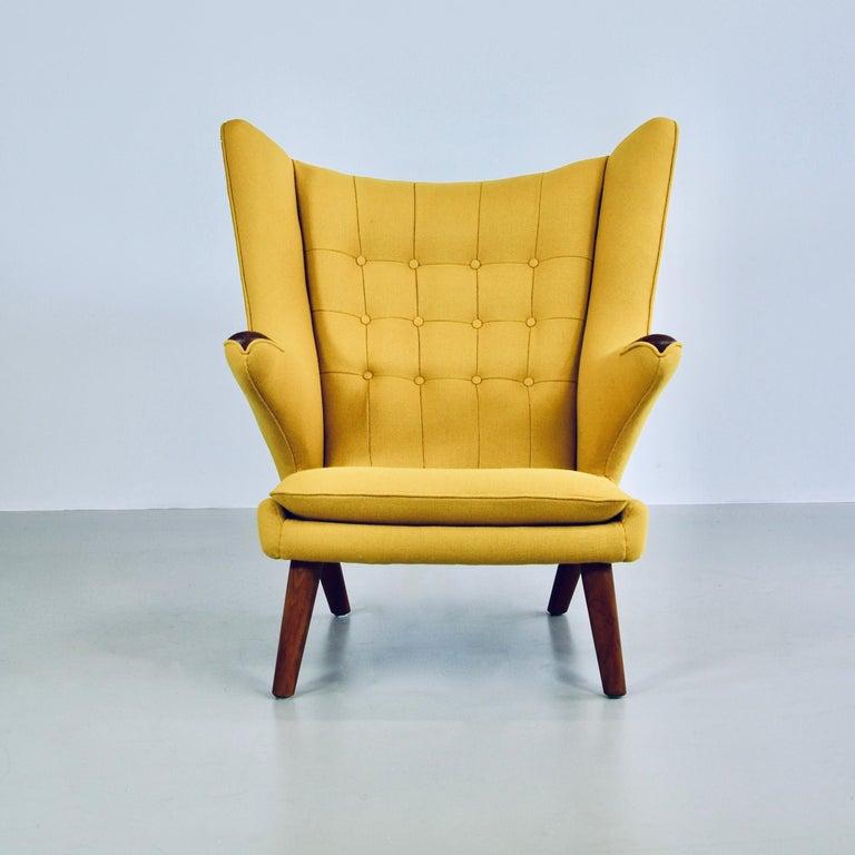 Wool Hans J. Wegner Armchair 'PAPA BEAR' For Sale