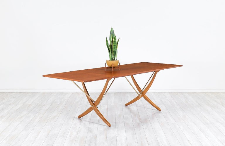"Hans J. Wegner AT 304 ""Sabre"" dining table for Andreas Tuck