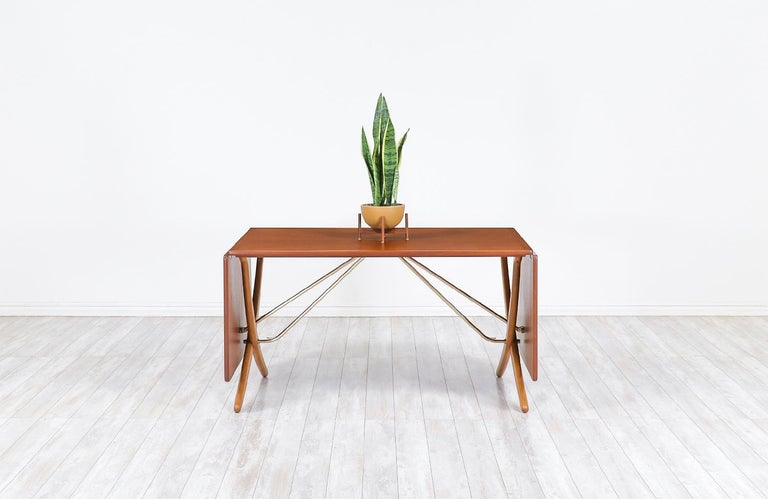 "Danish Hans J. Wegner AT 304 ""Sabre"" Dining Table for Andreas Tuck For Sale"