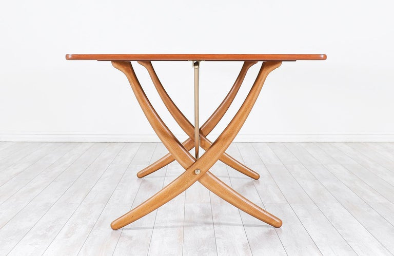 "Brass Hans J. Wegner AT 304 ""Sabre"" Dining Table for Andreas Tuck For Sale"