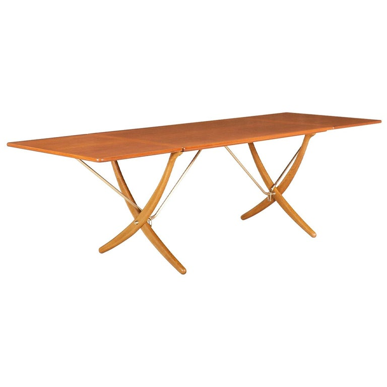 "Hans J. Wegner AT 304 ""Sabre"" Dining Table for Andreas Tuck For Sale"