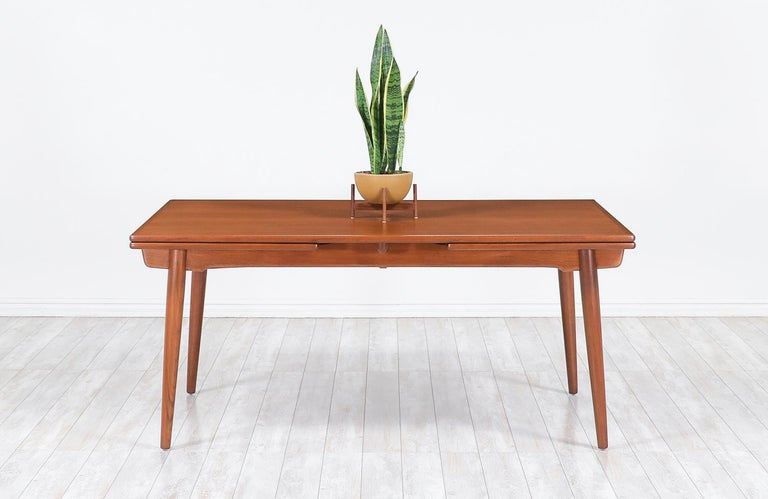 Mid-Century Modern Hans J. Wegner AT 312 Draw-Leaf Dining Table for Andreas