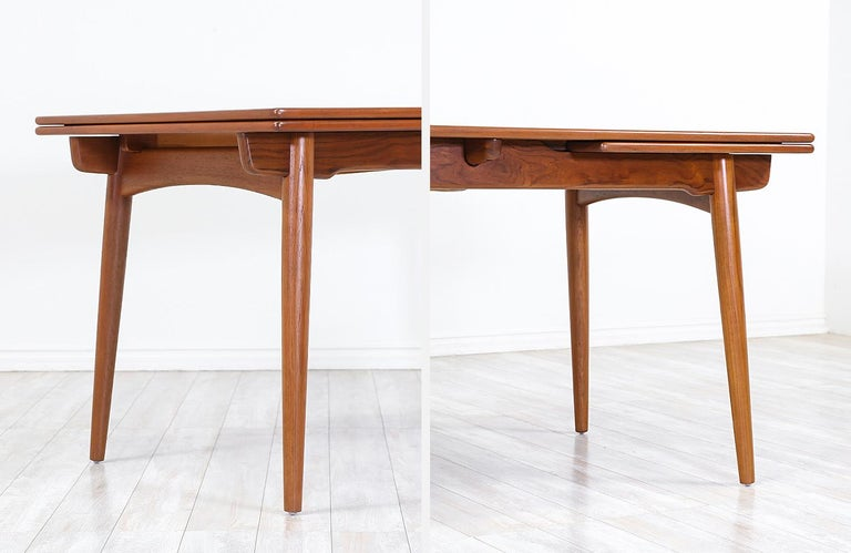 Hans J. Wegner AT 312 Teak Draw-Leaf Dining Table for Andreas Tuck For Sale 3