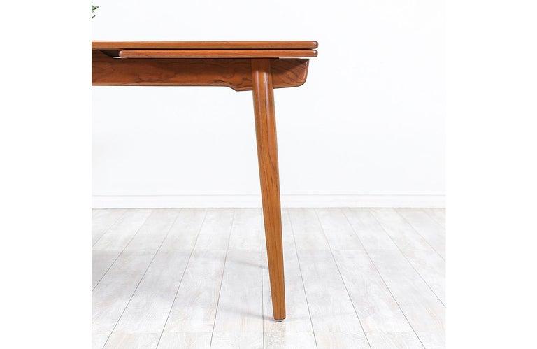 Hans J. Wegner AT 312 Teak Draw-Leaf Dining Table for Andreas Tuck For Sale 4