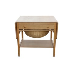Hans. J. Wegner AT 33 Sewing Table in Solid Light Oak Made by Andreas Tuck