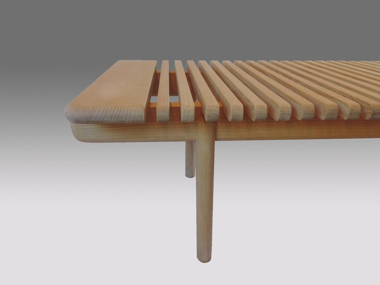 Hand-Crafted Hans J. Wegner Bar Bench for Johannes Hansen For Sale