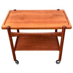 Hans J. Wegner Bar Cart, Tray Table in Teak for PP Møbler, 1960s