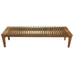 Hans J. Wegner Bench in Oak from 1953 by Johannes Hansen
