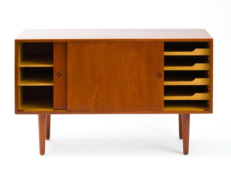 Hans J Wegner Cabinet in Teak, Johannes Hansen Cabinetmaker, circa 1960 For Sale 1