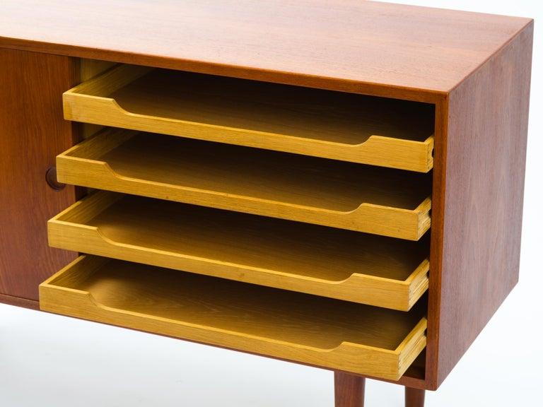 Hans J Wegner Cabinet in Teak, Johannes Hansen Cabinetmaker, circa 1960 For Sale 2