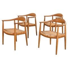 Hans J. Wegner Cane Round Dining Chairs