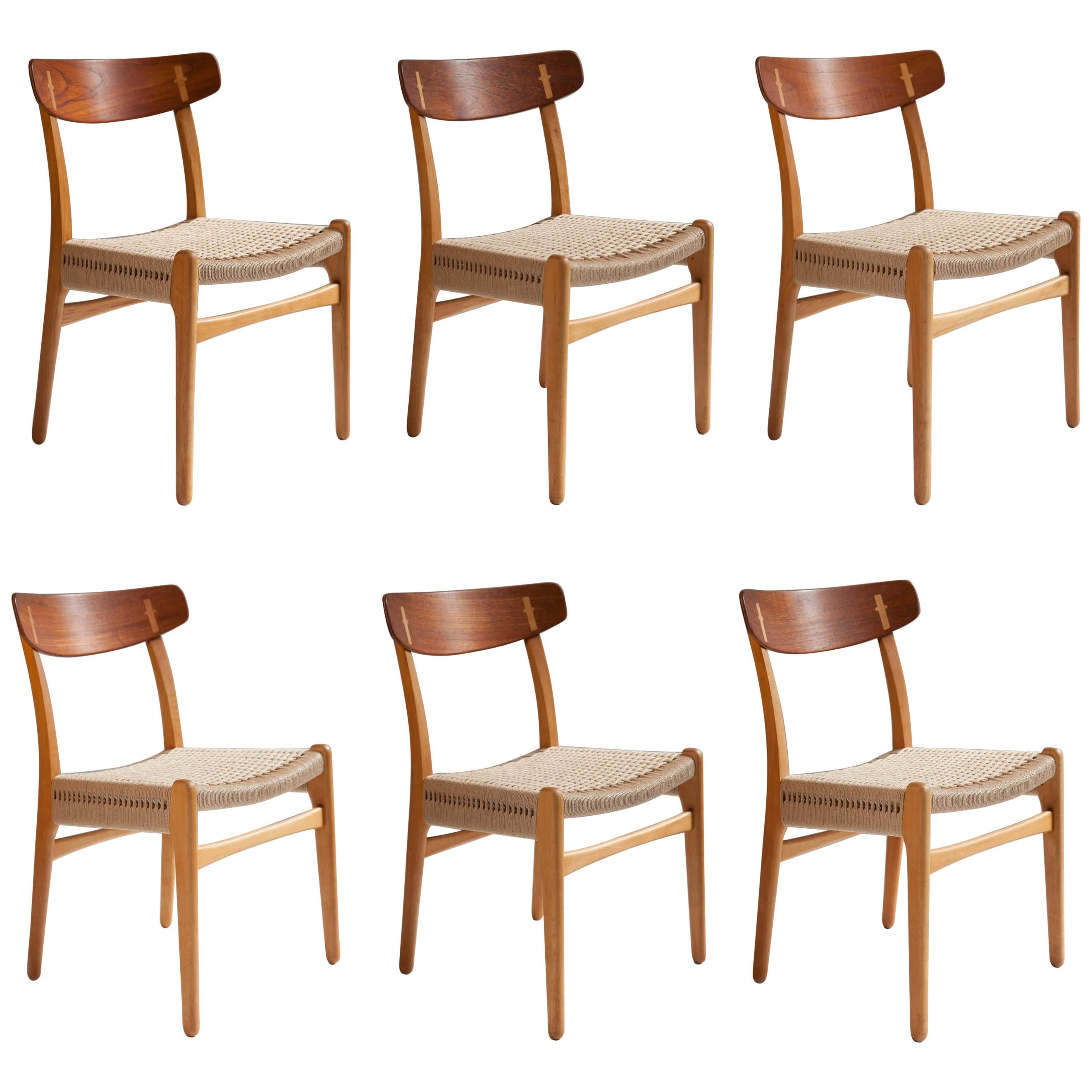 Hans J. Wegner Ch-23 Dining Chairs, Set of 6, Denmark
