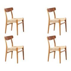 Hans J. Wegner CH-23 Teak & Oak Dining Chairs for Carl Hansen & Søn
