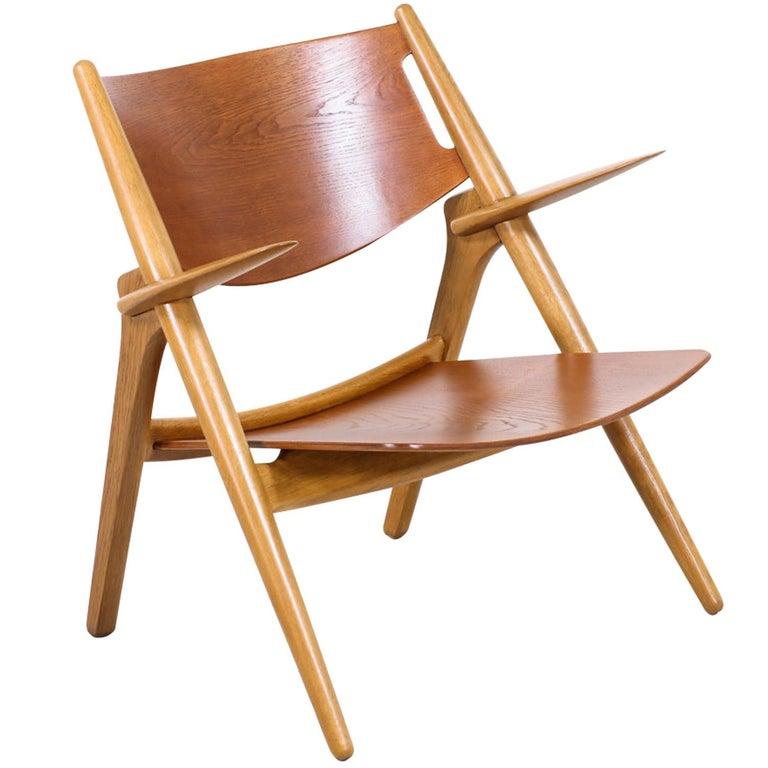 "Hans J. Wegner CH-28 ""Sawbuck"" Chair for Carl Hansen & Søn For Sale"