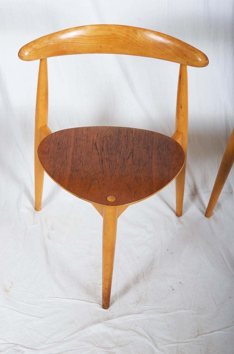 Oak Hans J. Wegner Chair FH 4103 Heart Chair For Sale