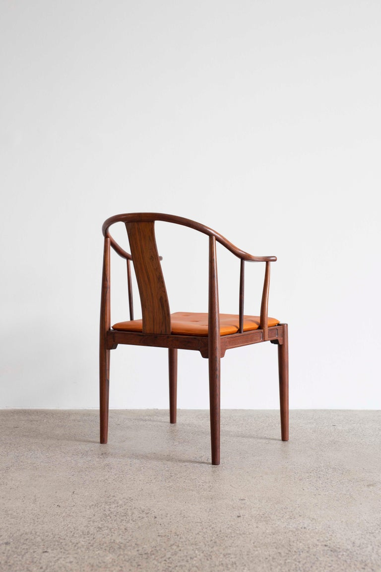 Danish Hans J. Wegner China Chair in Rosewood for Fritz Hansen, 1944 For Sale
