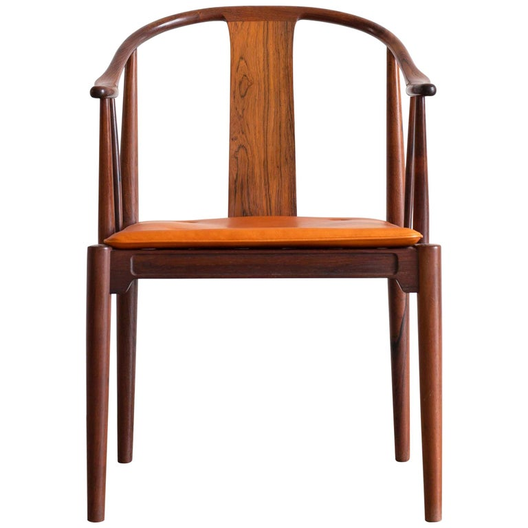 Hans J. Wegner China Chair in Rosewood for Fritz Hansen, 1944 For Sale