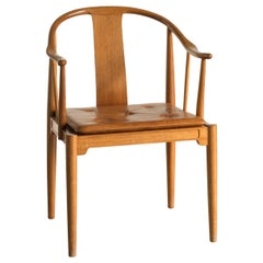 Hans J. Wegner Chinese Chair of Mahogany for Fritz Hansen