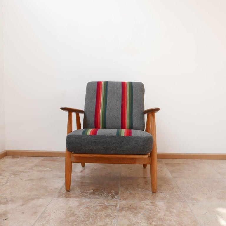Hans J Wegner 'Cigar' GE-240 Armchair for GETAMA In Good Condition For Sale In Surbiton, Surrey