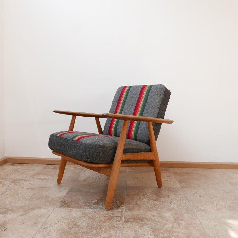 Mid-20th Century Hans J Wegner 'Cigar' GE-240 Armchair for GETAMA For Sale